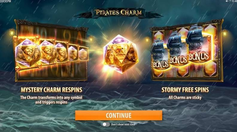 Pirates Charm QuickspinSlot Bonus 1