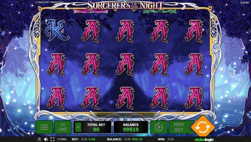 Sorcerers of the Night StakeLogicSlot Slot Reels