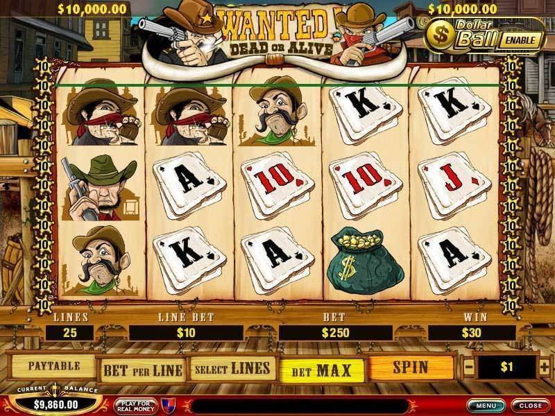 Wanted Dead or Alive PlayTechSlot Slot Reels